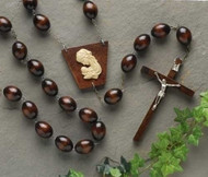 Wall Rosary, Brown Bead