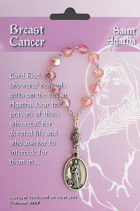 One Decade Rosary ~ St Agatha Patron Saint of Breast Cancer, Nurses, Torture Victims, Single Laywomen, & Firefighters