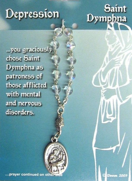 One Decade Rosary ~ St Dymphna. Patron Saint of the Mentally Ill, Epilepsy, Family Harmony, Runaways, Sleepwalkers
