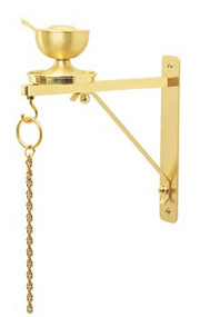 "Wall Bracket is available in a Two Tone Brass or a Satin Bronze. Back plate 2"" x 10"". Extends 10"" from wall"