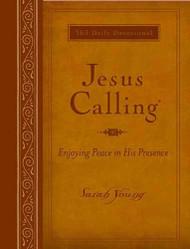 "After many years of writing her own words in her prayer journal, missionary Sarah Young decided to be more attentive to the Savior's voice and begin listening for what He was saying. So with pen in hand, she embarked on a journey that forever changed her—and many others around the world.  In these powerful pages are the words and Scriptures Jesus lovingly laid on her heart. Words of reassurance, comfort, and hope. Words that have made her increasingly aware of His presence and allowed her to enjoy His peace.  Jesus is calling out to you in the same way. Maybe you share the author's need for a great sense of ""God with you"". Or perhaps Jesus seems distant without you knowing why. Or maybe you have wandered farther from Him that you ever imagined you would. Here is a year's worth of daily readings from Young's journals to bring you closer to Christ and move your time with Him from monologue to a dialogue. Regular Print: 400 pages 7 1/4"" x 8 1/2"".  Large Print Dimensions: 384 pages ~ 7 1/4"" x 8 1/2"""