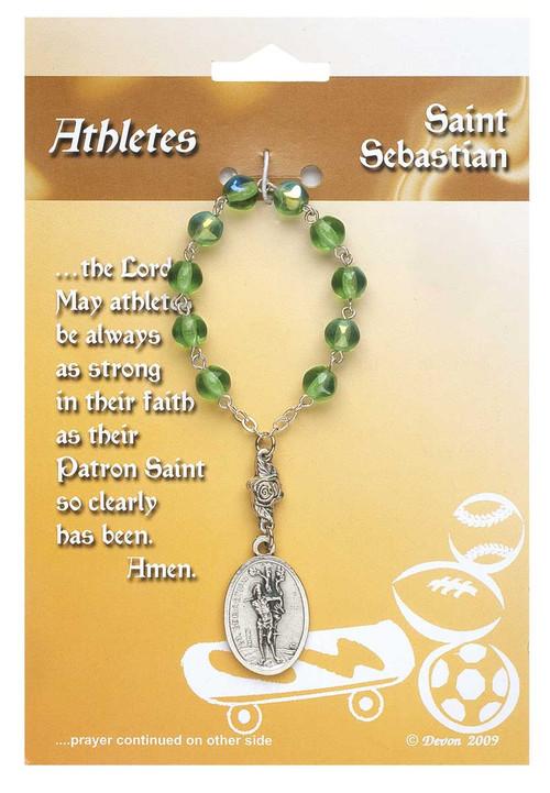 One Decade Rosary ~ St. Sebastian. Patron Saint of Athletes
