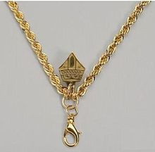 """Pectoral Chain, Size 48"""" Brass Gold Plated French Rope Style Pectoral chain with Mitre hook. Chain ONLY."""