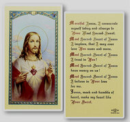Prayer for Daily Neglects Holy Card  Clear, laminated Italian holy cards. Features World Famous Fratelli-Bonella Artwork. 2.5'' x 4.5''