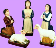 "Color: This detailed beautiful 5 pc. Fatima Children/Sheep set is designed for lasting durability (Indoor & Outdoor use) to accompany your 24"" Lady of Fatima Statue to make your favorite spot complete. 13"" Lucia, 12"" Francisco, 10""Jacinta, 5"" & 7"" Sheep."