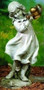 """Garden Statue, Girl With Watering Can. Dimensions: 22""""H  x 10.5""""W x  11""""D. Resin/Stone Mix"""