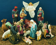 15 Piece Set  - These nativity scene figures are perfect to use as an indoor or outdoor Christmas decoration.  These figures can be purchased separately.  The heights range from 7 inches to 36 inches.  You can purchase the entire set or smaller sets including the Holy Family, the three kings, and more.