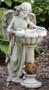 "Garden Collection ~ Solar Angel Birdbath. 23""H 14""W x 12.25""D. Resin / Stone Mix"