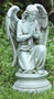 """Garden Angel Collection ~ Praying Angel Statue. Dimensions: 17.75""""H x 9.5""""W 8""""D. Stone / Resin Mix"""