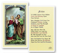 Holy Family, Prayer for Father Laminated Holy Card,