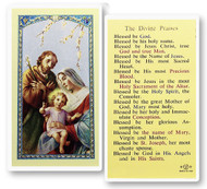 The Divine Praises Laminated Holy Card