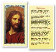 Footprints Prayer, The Head of Christ Laminated Holy Card