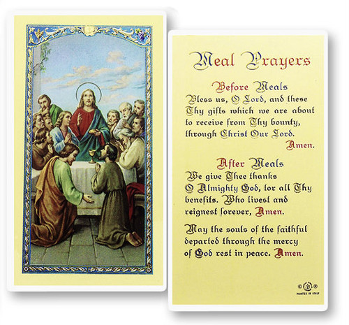 Prayers before and after meals.