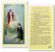St.  Margaret Mary, The Promises of Our Lord Laminated Holy Card