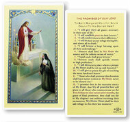 The Promises of Our Lord. A clear, laminated Italian holy card. Features World Famous Fratelli-Bonella Artwork. 2.5'' x 4.5''