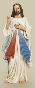 "From the Renaissance Collection ~25"" Divine Mercy Statue. Dimensions are:  25""H x 10""W x 7.5""D. Divine Mercy statues is made of a resin /stone Mix."