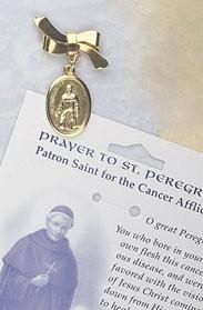 St Peregrine Ribboned Lapel Pin