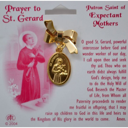 """Patron Saint for Expectant Mothers. Start of prayer on front of card: """"O good St. Gerard, powerful intercessor before God and wonder worker of our day....."""""""