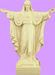 "6"" Sacred Heart of Jesus Statue is carefully crafted and molded in vinyl with an exclusive process for years of lasting use."