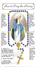 How to Say the Rosary is simply explained in this four page pamphlet that contains all the mysteries of the Rosary, including the Luminous Mysteries of Light!