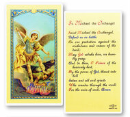 St. Michael Defend Us in Battle, Laminated Holy Card