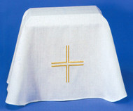 """OP62- Washable Easy Care, Textured Polyester Linen Blend. 36"""" x 44"""" Elegantly embroidered."""
