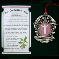 gift boxed ornament with bookmark merry christmas from heaven remembrance ornament and bookmark is a