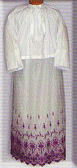 Skirted Alb 1830, Wheat or Cross Design
