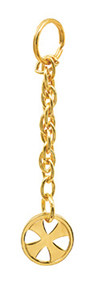 "Bright nickel plated or High polished 24K gold plate. 5"" Length. Gift boxed"