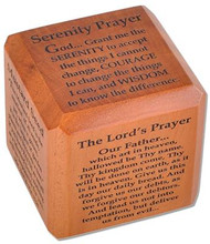 Prayers inlcude: The Serenity Prayer, The Mustard Seed (Matt 13:31, 17:20), The Lord's Prayer (Luke 11:24), Eagles Wings (Isaiah 40:30), Love is Patient (1 Cor 13:4-8), Footprints Dimensions: 3.5""