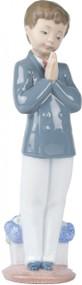 Lladro Nao Praying Boy Communion Figurine