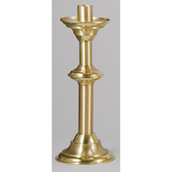 "Paschal Candle Stand Style 1932 - Short Size 30"" Tall, 12"" diameter base with 1-15/16"" socket. Crafted of solid brass, hand finished in a combination of bright and satin surfaces then protected with a bronze lacquer.  Paschal Stands will be shipped with a standard sized 1-15/16"" socket. Other sizes are available up to 3"" with no additional charge. Please write in alternate socket size"