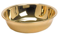 "1-7/8"" Height  8"" Bowl Diameter. Gold plated pewter"