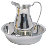 "Polished Pewter Ewer is 6 3/4""H and has a 20 oz. capacity. Matching Bowl (Item #K218-P) is sold separately!"