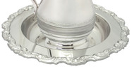 """Nickel plated Basin is 2 3/4"""" H with a 13"""" Diameter and has a decorative edge"""