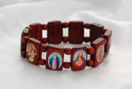 Assorted Saints Bracelet ~ These bracelets are made in Nicaragua and come with either brown or gold beads. Pictures may also vary.