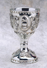 "3"" Silver Polyresin Chalice. Use as a Cake Topper, Token Gift or Party Favor!"