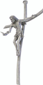 """9""""H Gifts of the Holy Spirit Pewter Wall Crucifix. Gifts of the Holy Spirit has a hanging hook for easy hanging."""