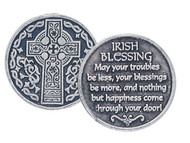 Celtic Cross with Irish Blessing Pocket Token
