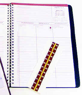 Index Tabs (January through December)for Ecumenical Daily Appointment Planner