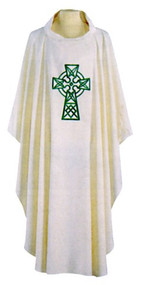 Polyester, Washable, Celtic Cross Chasuble