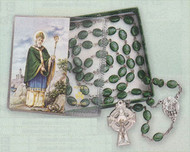 Shamrock Rosary with Irish Blessing Prayer Card