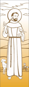 St. Francis Wall Banner 7147