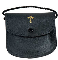 """Genuine Leather-Fully lined. Neck Cord. Holds 2 1/2"""" x 1/2"""" pyx"""