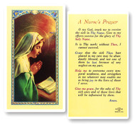Clear, laminated Italian holy cards with gold accents. Features World Famous Fratelli-Bonella Artwork