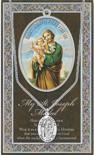 St Joseph Prayer Card And Pewter Meda St Jude Shop Inc