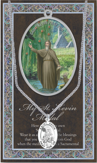 St Kevin Prayer Card And Pewter Medal St Jude Shop Inc
