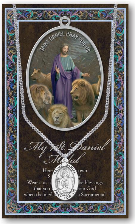 St Daniel Prayer Card And Pewter Medal St Jude Shop