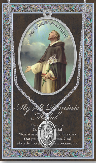 St Dominic Prayer Card And Pewter Medal St Jude Shop