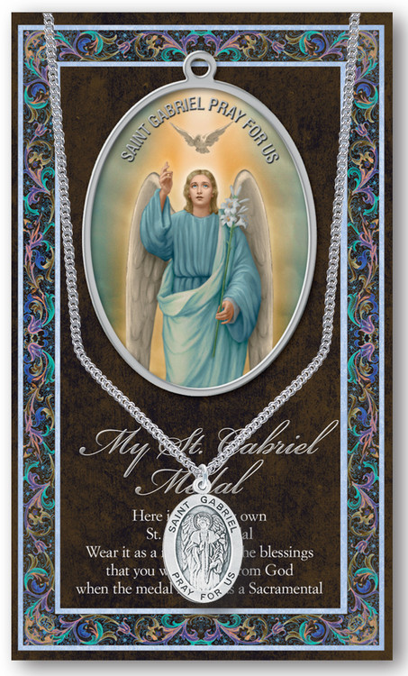 St Gabriel Prayer Card And Pewter Medal St Jude Shop